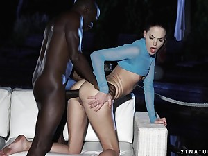 Pet learns to take big black cock more her ass