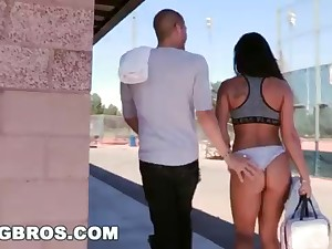 BANGBROS - Witness Xander Corvus Louse up Gianna Nicole In A Public Park!