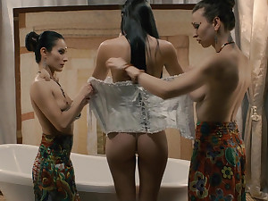 Sexual pipedream with a kinky masked girl