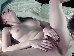 Arousing 18Yo Shagged In Creampied In The Van
