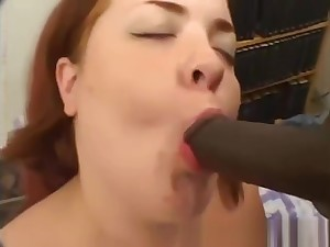 Young fat redhead gets black cock 010