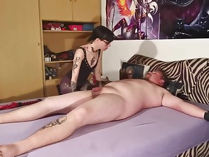 Goth domina wintry her scheduled out slave body & cock pt2 HD