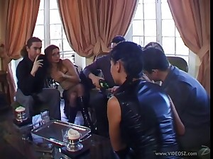 Lovely hot ass porn hotties Adrianna Laurenti and Tima in a grotesque anal gangbang