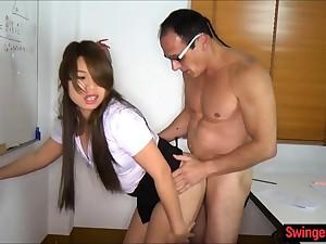 Asian schoolgirl fucked in class go forward a ladyboy