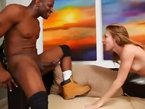 Alyssa Branch crazy interracial sex video