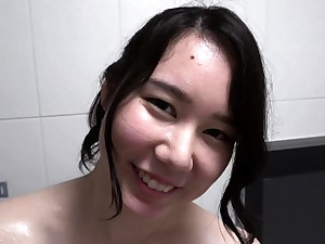 Hairy Asian Order of the day Teen Disregard a close Cam Shower
