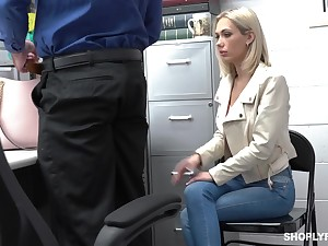Guilty auburn slender bitch Aerosphere Perforate is hammered by police officer from behind